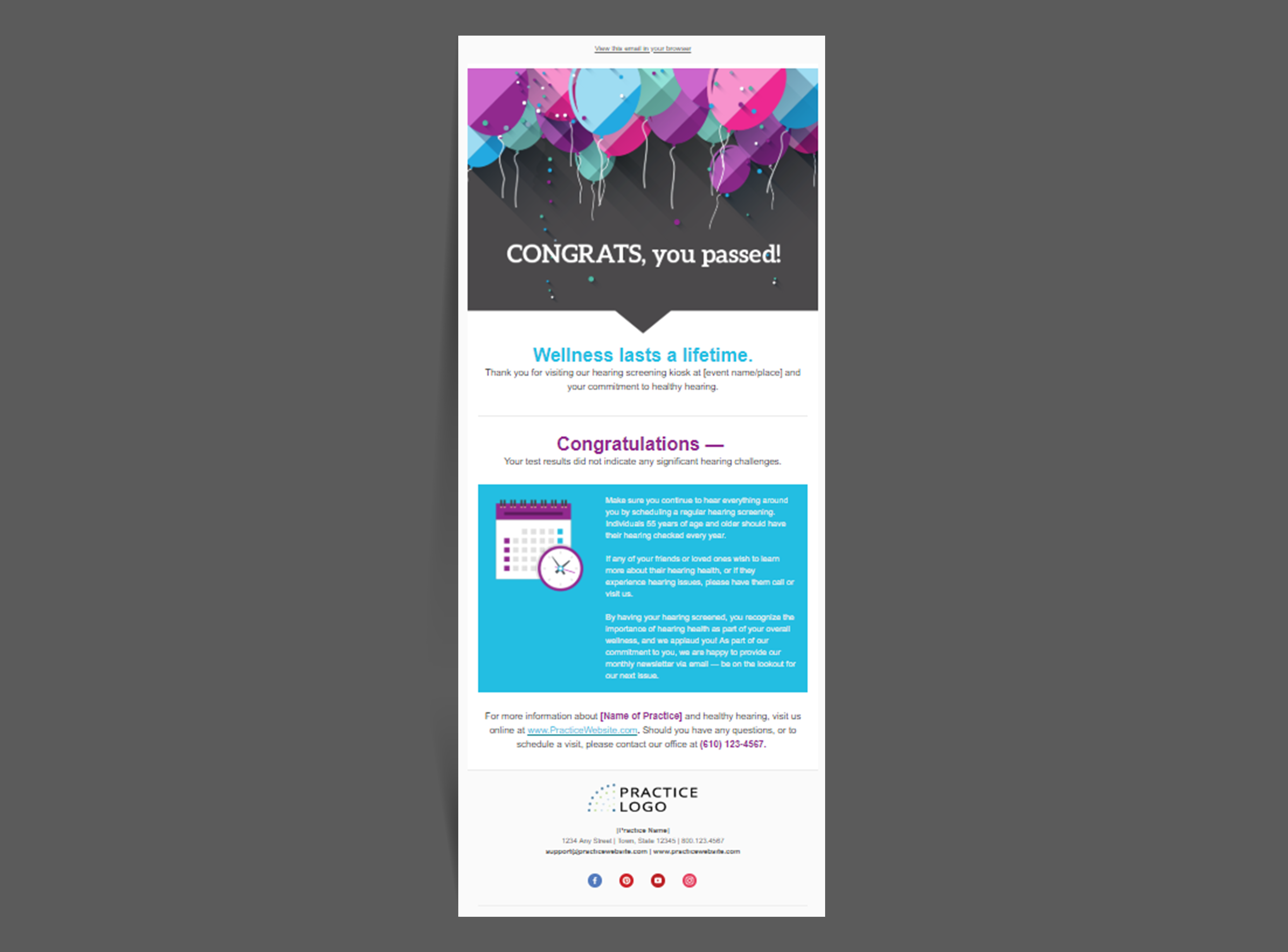 Hearing Screening Email - Congrats   Consult YHN MarketSource
